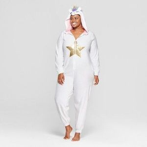 Unicorn Womens 1X 2X Union Suit Halloween Festival